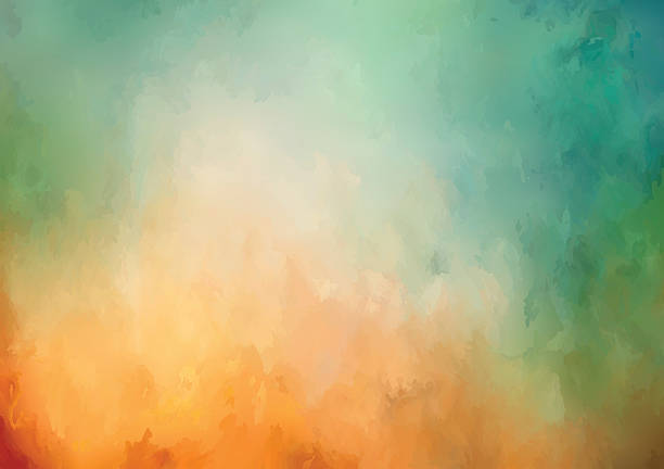 Vector Watercolor Background Vector abstract watercolor background with painting texture fall background stock illustrations