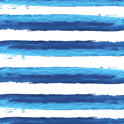 vector watercolor blue stripes background