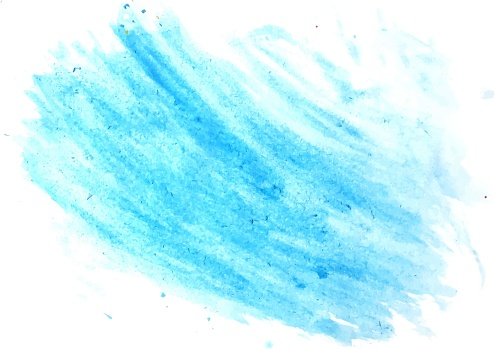 605740894 istock photo Vector watercolor brush stroke of blue on a white background, stock illustration for design and decoration 1225913854