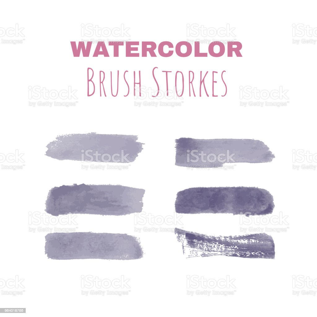 Vector watercolor brush strokes for hand drawn designs - Royalty-free Art stock vector