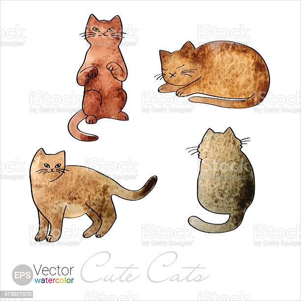 Vector watercolor cute red cats set of four painted illustrations vector id473321070?b=1&k=6&m=473321070&s=612x612&h=xmodgcbvm p2sfjwydovuioouqnufcl8goujmhkms a=