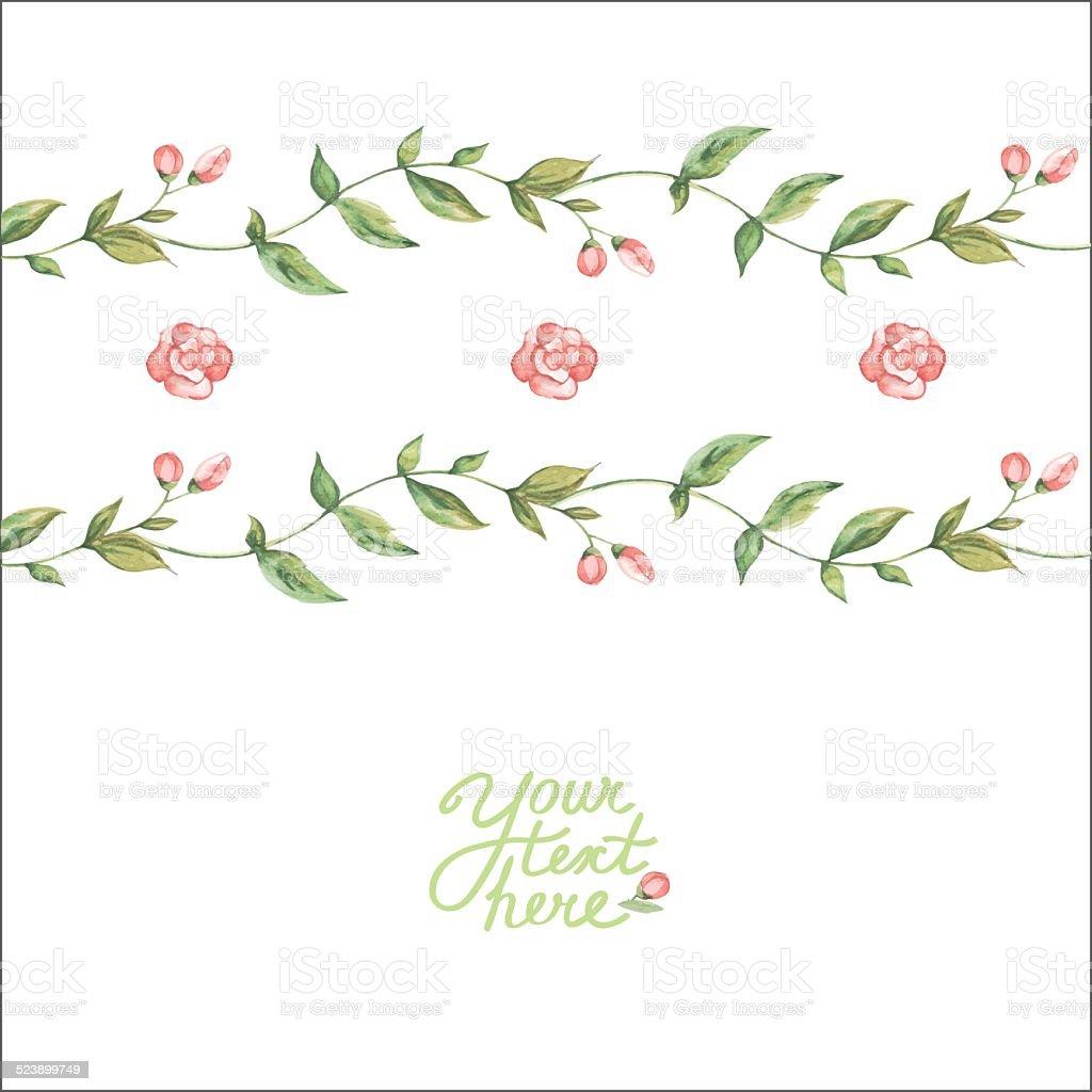 Vector Watercolor Flower Card向量圖形及更多創作性圖片 Istock