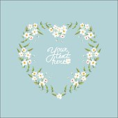 vector watercolor flowers circle frame