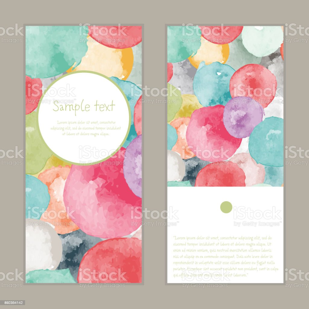 Vector watercolor greeting card vector art illustration