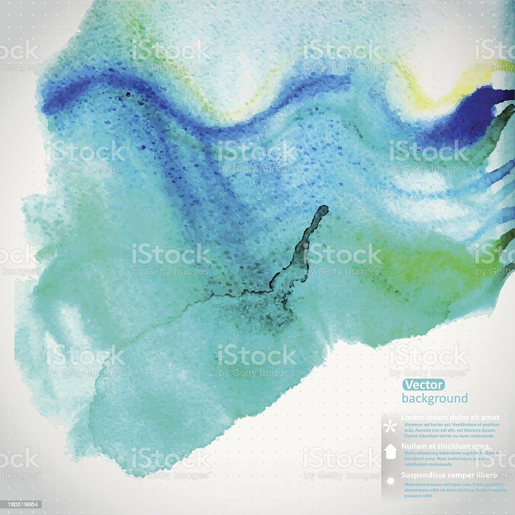 Vector watercolor texture royalty-free stock vector art