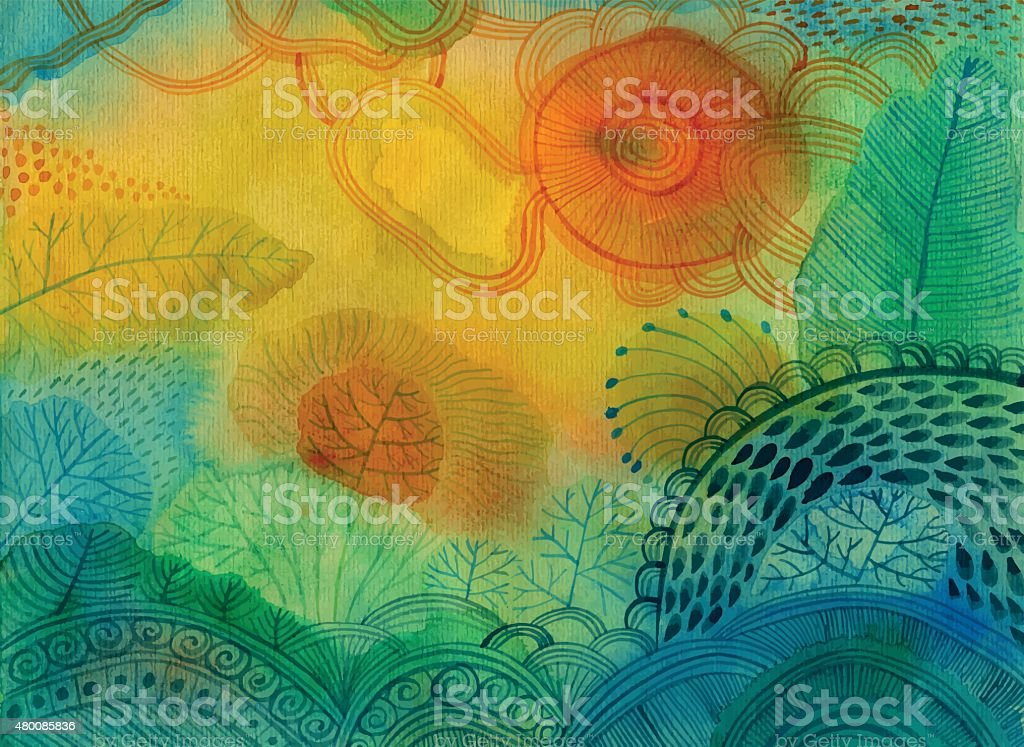 Vector watercolour abstract background royalty-free vector watercolour abstract background stock vector art & more images of 2015