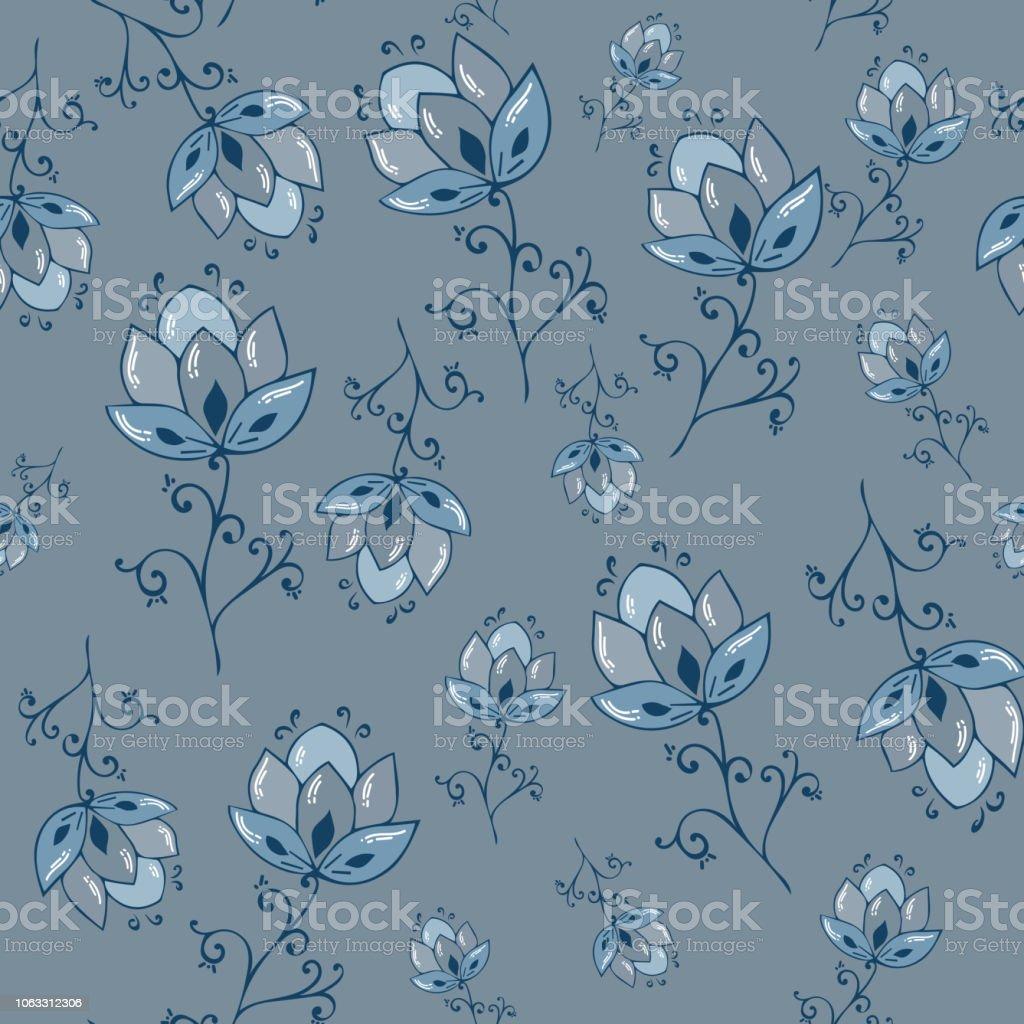Ilustracion De Patron Floral De La Acuarela De Vector Delicadas