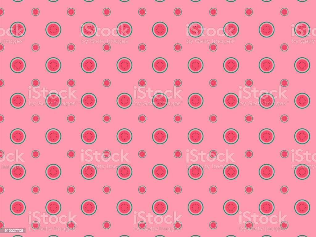 Vector Watermelon Background Pattern Stock Vector Art More Images