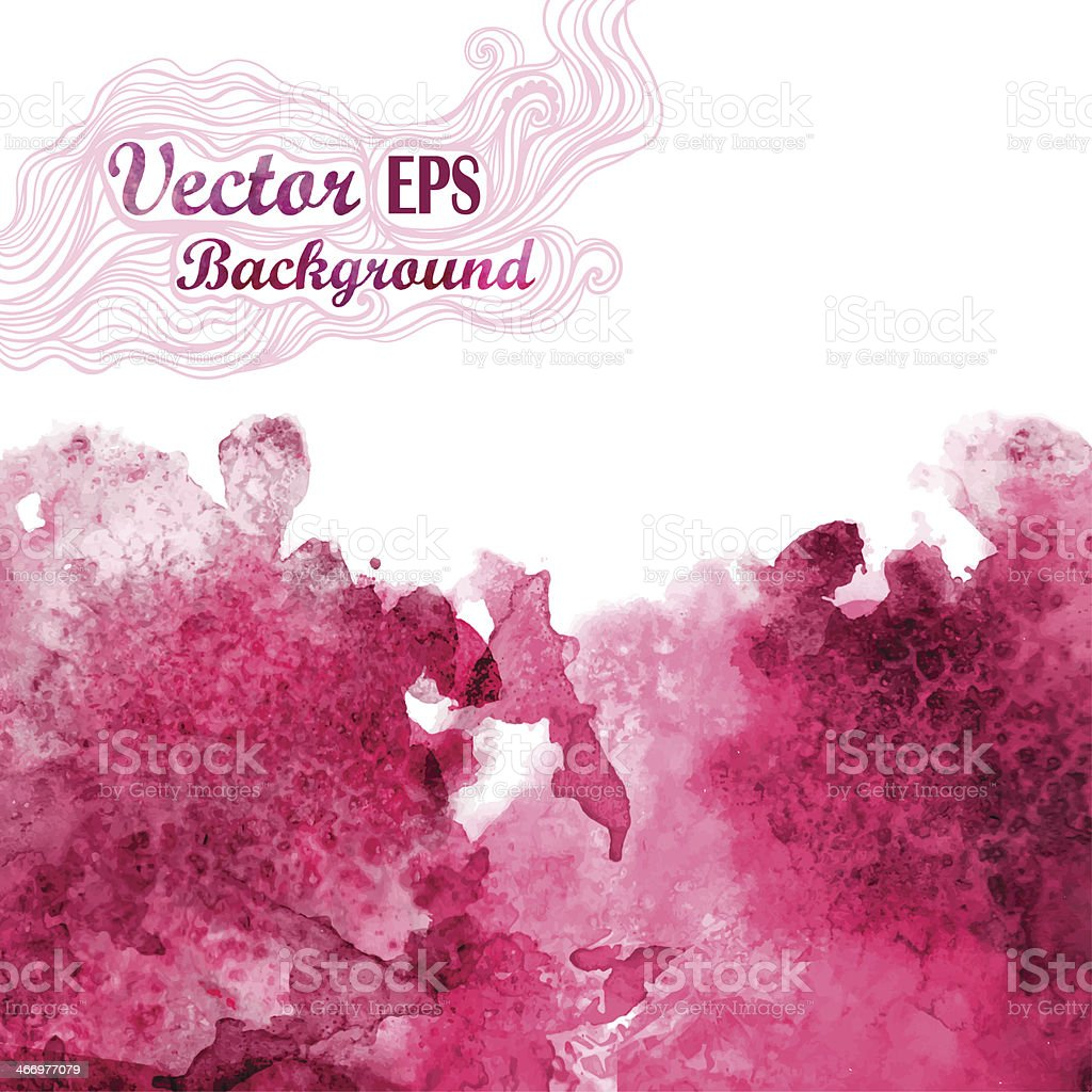 Vector wave in watercolor technique.Grunge background.Drop red a vector art illustration