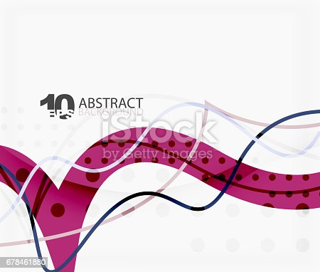 901409540istockphoto Vector wave lines abstract background 678461880