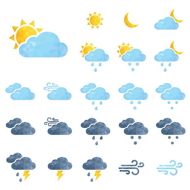 Vektor Wetter icons set – Vektorgrafik