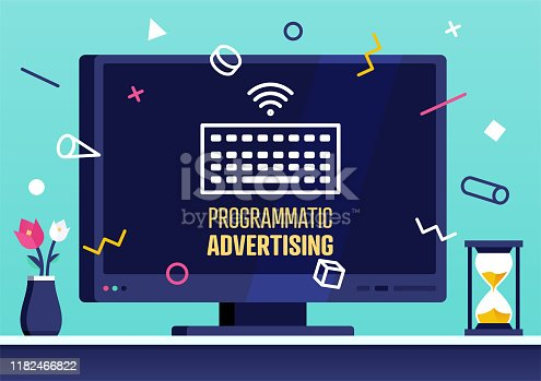 istock Vector Web Banner Design for Programmatic Advertising 1182466822