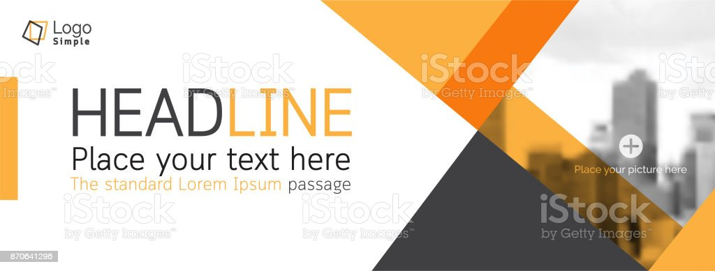 Vector web banner template, business theme