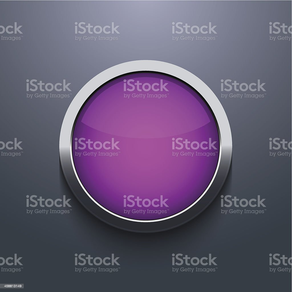 Vector web button design on gray background royalty-free stock vector art