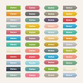 Vector Web  color buttons in flat stile isolated on a with background