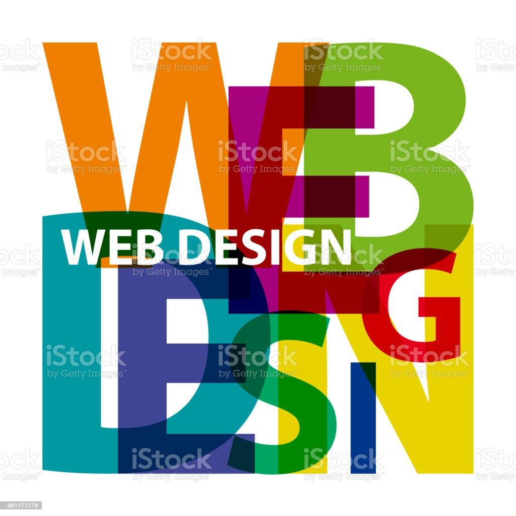 Vector web design. Broken text vector art illustration