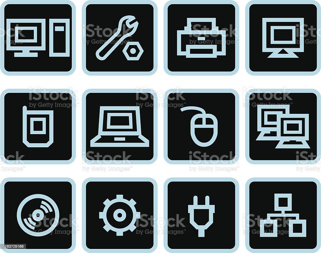 Vector web icons set - Hardware royalty-free stock vector art