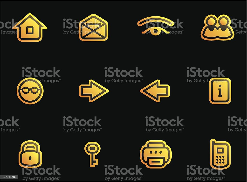 Vector Web Icons Set royalty-free vector web icons set stock vector art & more images of arrow symbol