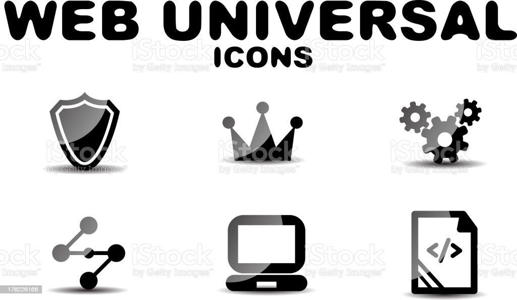 Vector web universal icons royalty-free stock vector art