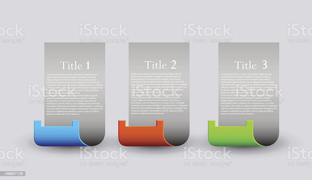 Vector website design elements set. Eps 10 royalty-free stock vector art