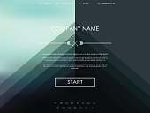 Vector website template with graphic user interface also for mobile