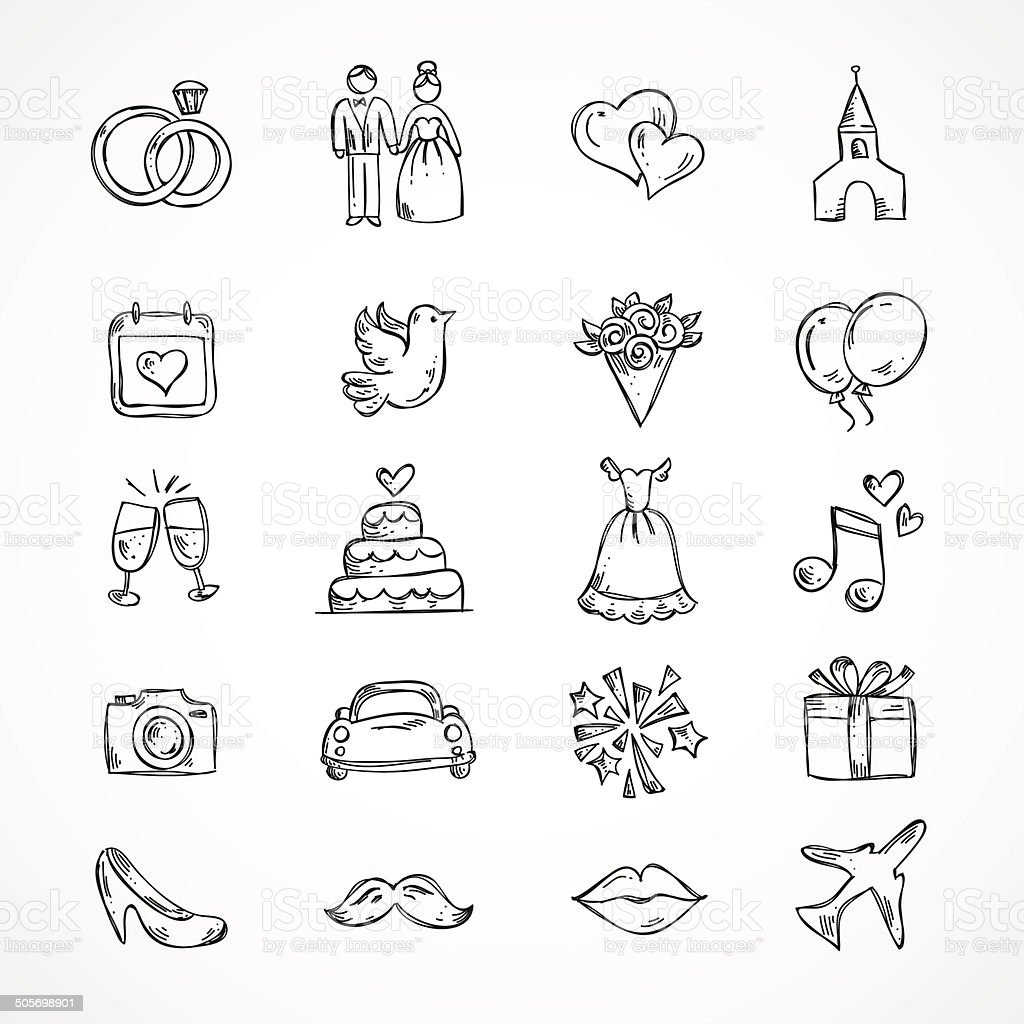 Vector Wedding Icons Bride Groom Couple Love Marriage Gm505698901 44846810 on car audio art