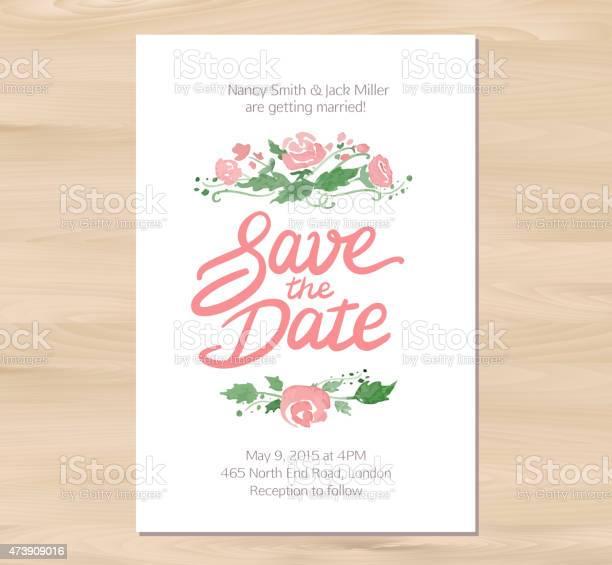 Vector wedding invitation with watercolor flowers and hand drawn vector id473909016?b=1&k=6&m=473909016&s=612x612&h=q2lrygmukbi88zmahehx6zimifnwid vabneggrua o=