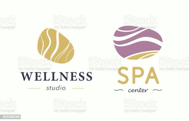 Vector wellness and spa center symbol with abstract stylized stone vector id928396266?b=1&k=6&m=928396266&s=612x612&h=3i6gsom7chii46rldhesajwqzk8gpigxn49bsswn yk=