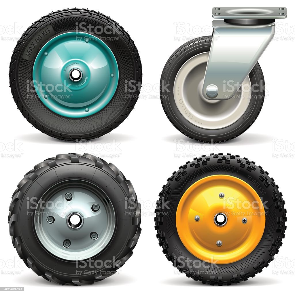 Vector Wheelbarrow Wheel vector art illustration