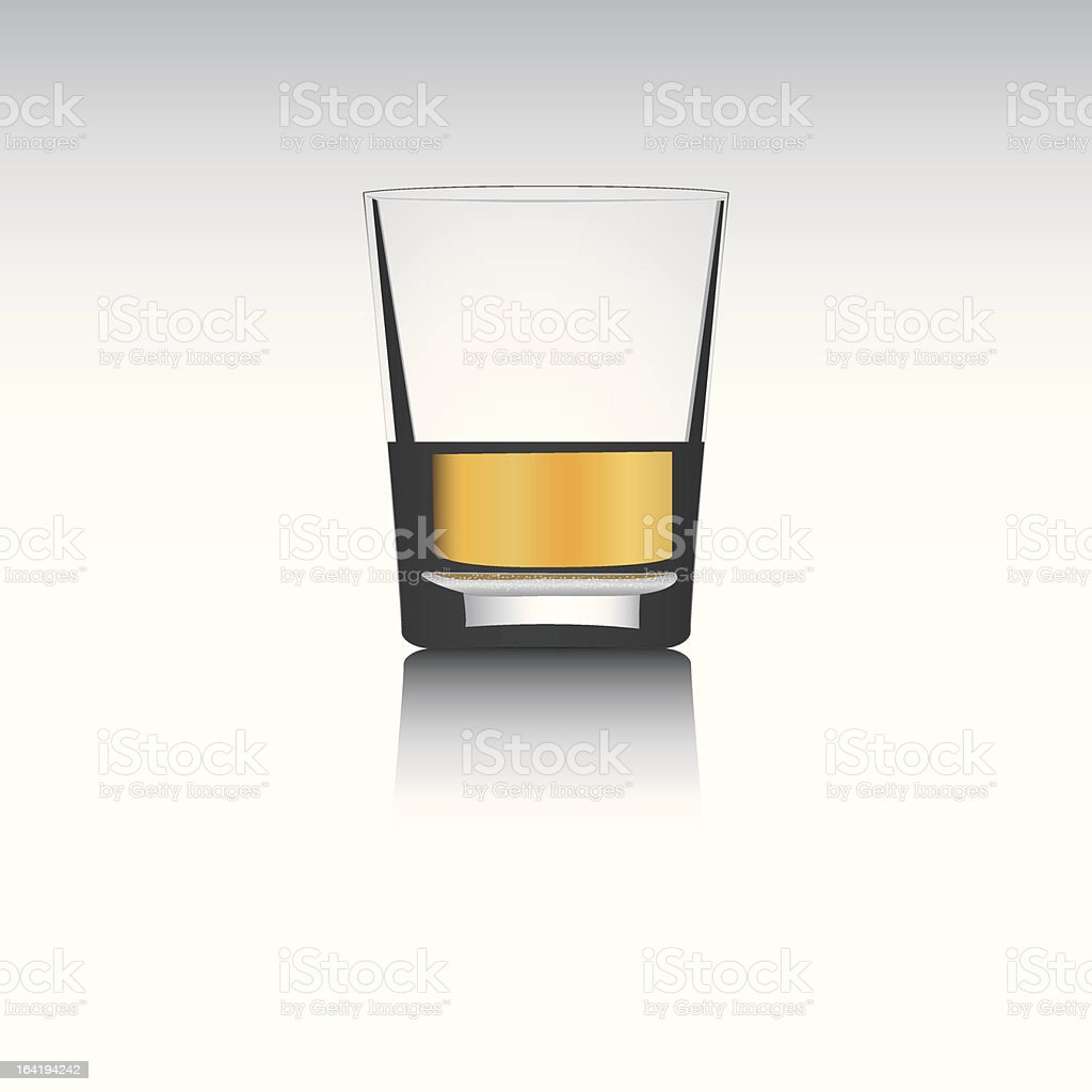 3D vector whisky glass..separated layers..editable.. vector art illustration
