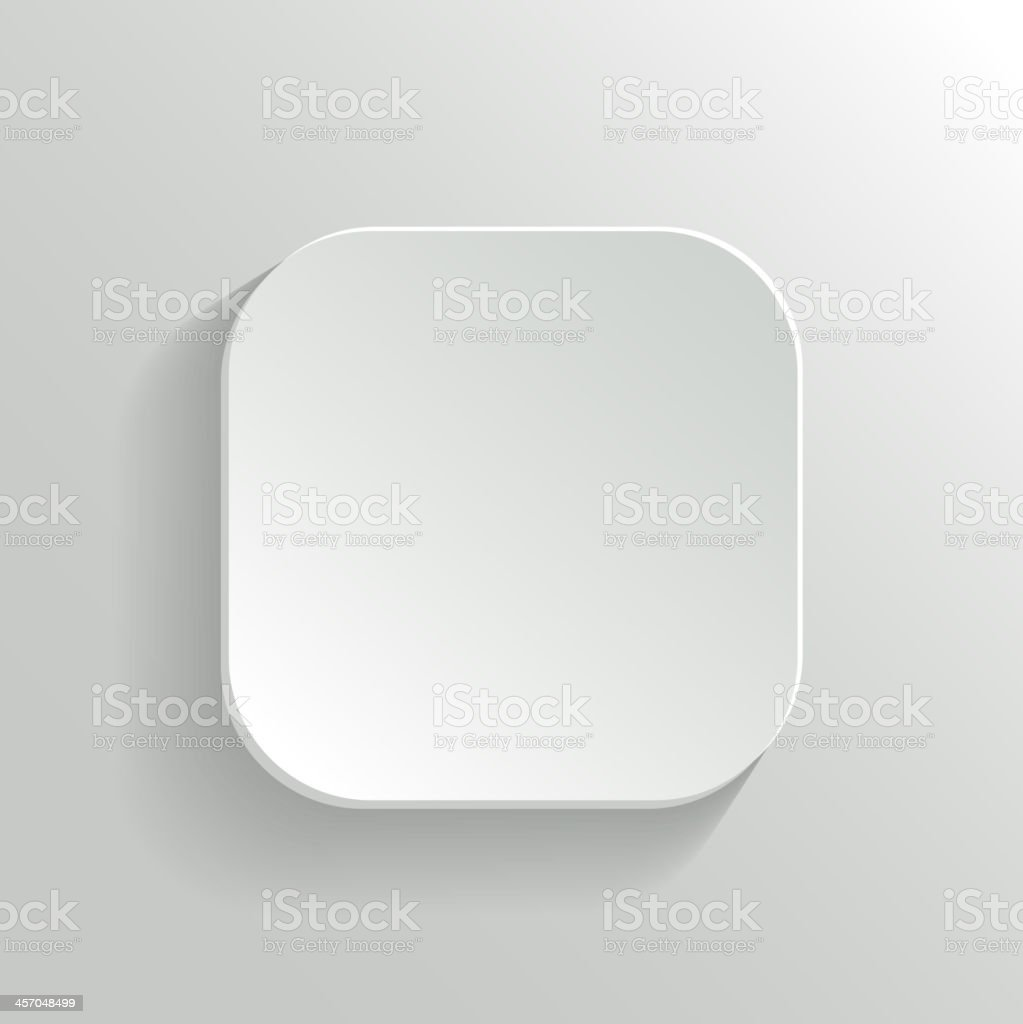 Vector White Blank Button - App Icon Template vector art illustration