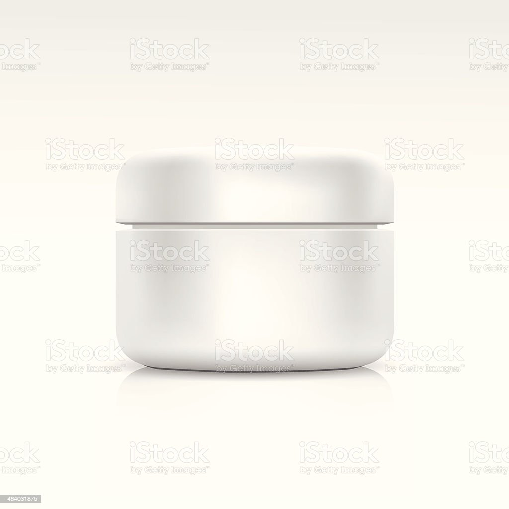 Vector white blank cosmetic container vector art illustration