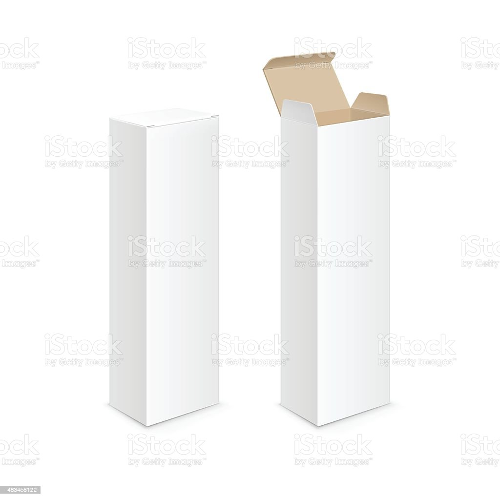 Vector White Blank Packaging Package Pack Toothpaste Box Design