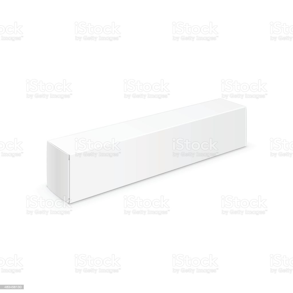 Vector White Blank Packaging Package Pack Toothpaste Box Design Template vector art illustration