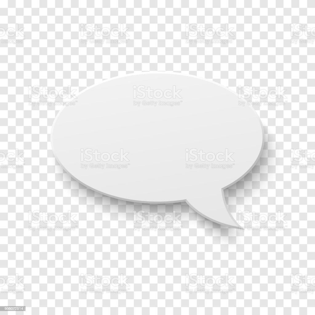 Vector white blank paper speech bubble vector art illustration