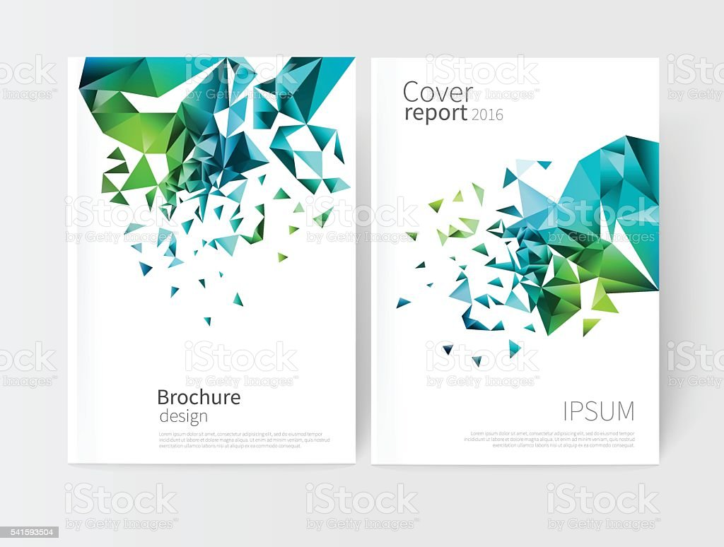 vector white business brochure cover template. – Vektorgrafik
