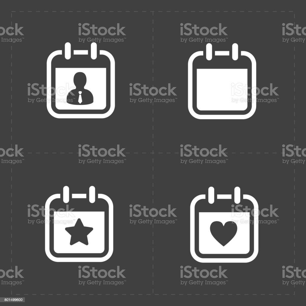 Calendario Vector Blanco.Ilustracion De Iconos De Vector Blanco Calendario Y Mas Vectores Libres De Derechos De Acontecimiento