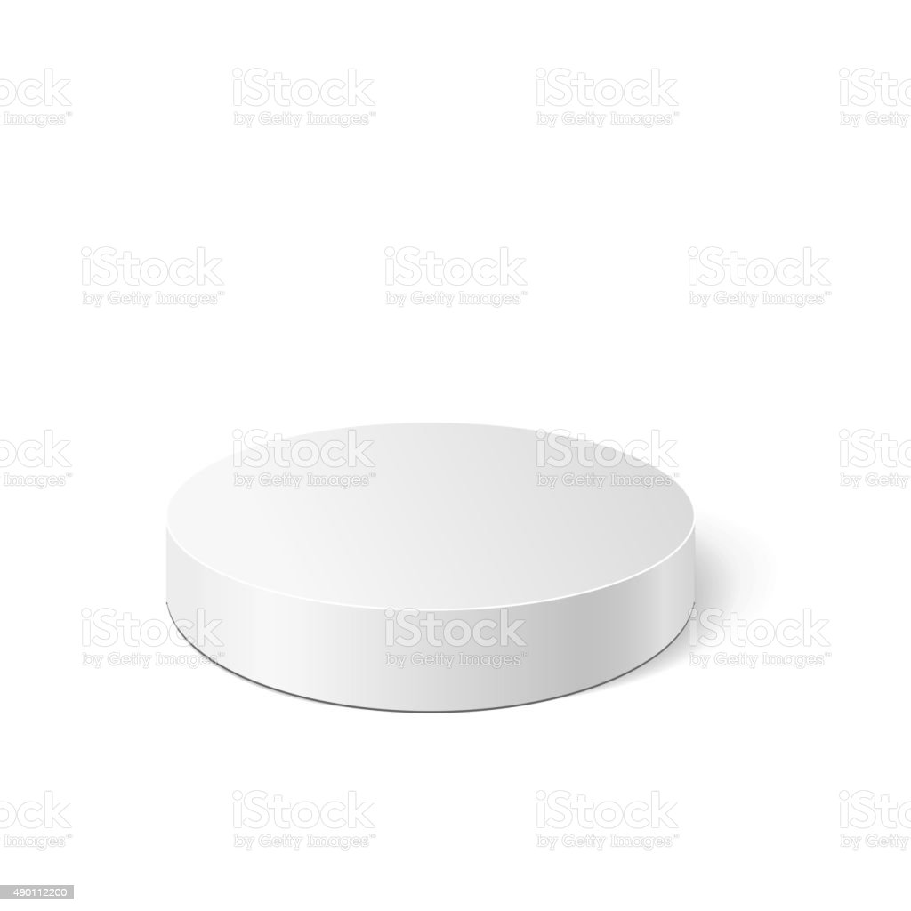 Vector white cylinder vector art illustration