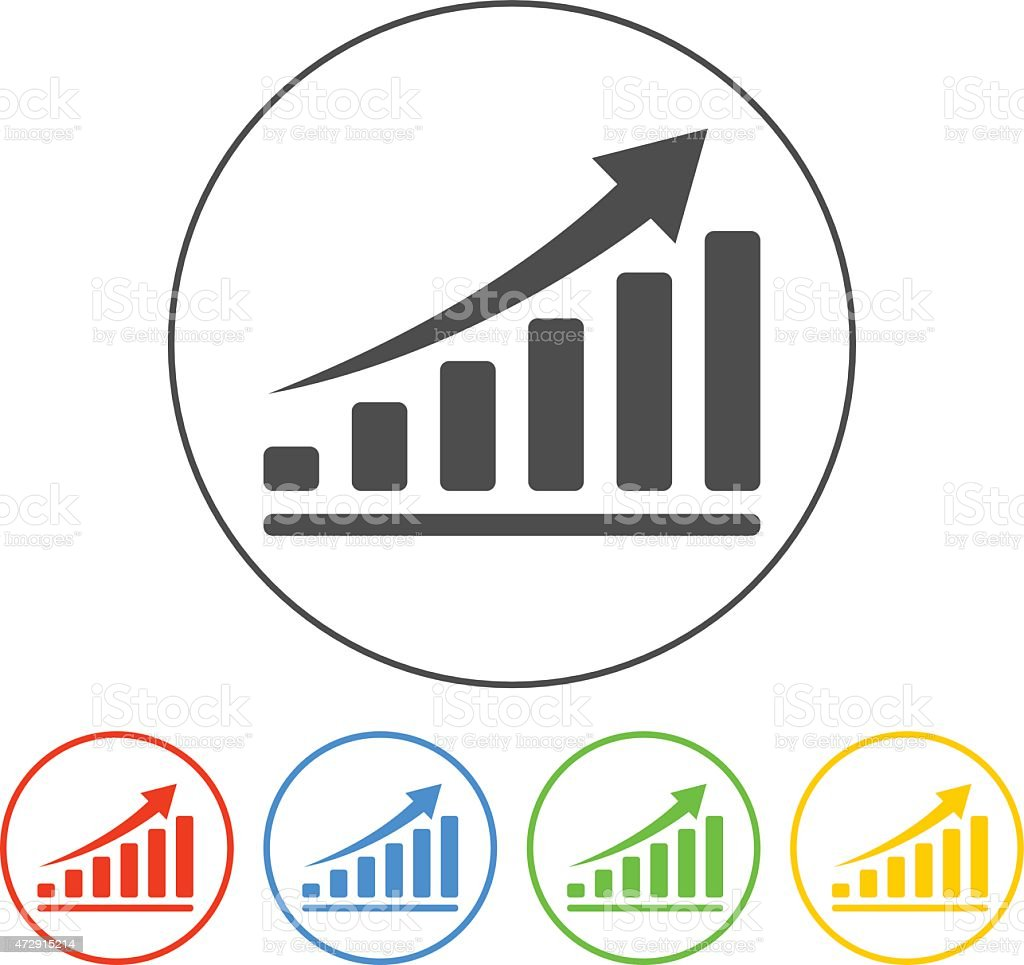 Vector white economic icons set vector art illustration