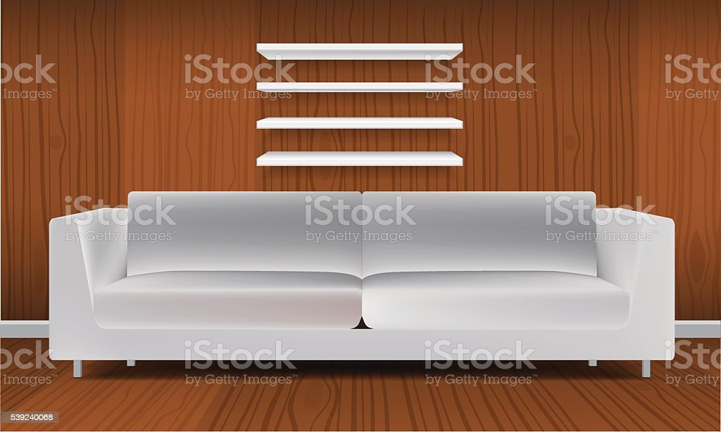 Vector White Empty Shelf Shelves Isolated on Wall Background royalty-free vector white empty shelf shelves isolated on wall background stock vector art & more images of arranging