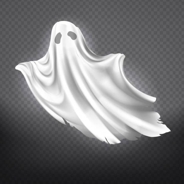ilustraciones, imágenes clip art, dibujos animados e iconos de stock de fantasma de vector blanco, monstruo espeluznante de halloween - aparición conceptos