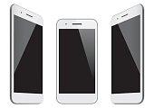 Vector white mobile phone templates