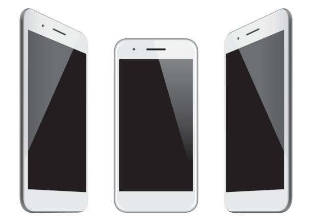 ilustraciones, imágenes clip art, dibujos animados e iconos de stock de plantillas de blanco móvil de vector - teléfono inteligente