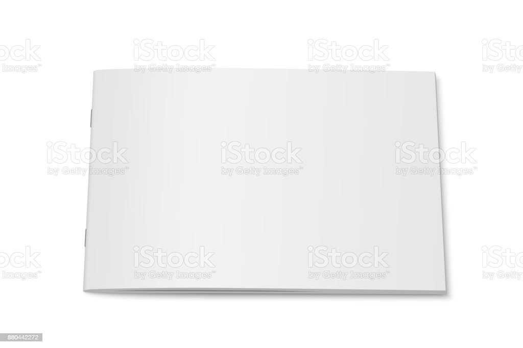 Vector white mock up of magazine isolated. vector art illustration