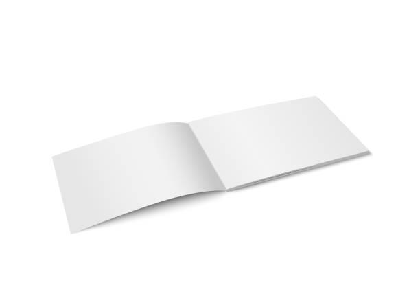 Vector white mock up of magazine isolated. vector art illustration