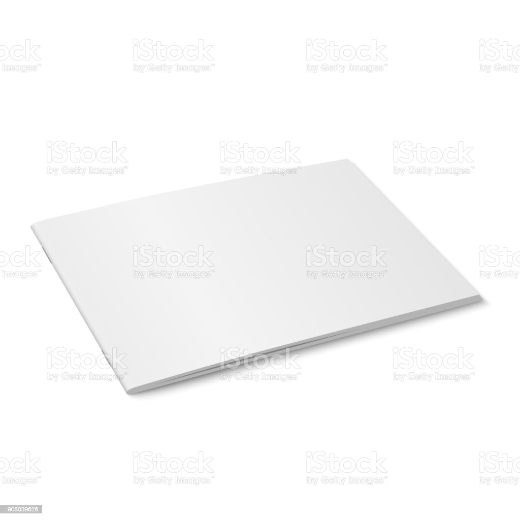Vector white mock up of magazine isolated. royalty-free vector white mock up of magazine isolated stock illustration - download image now