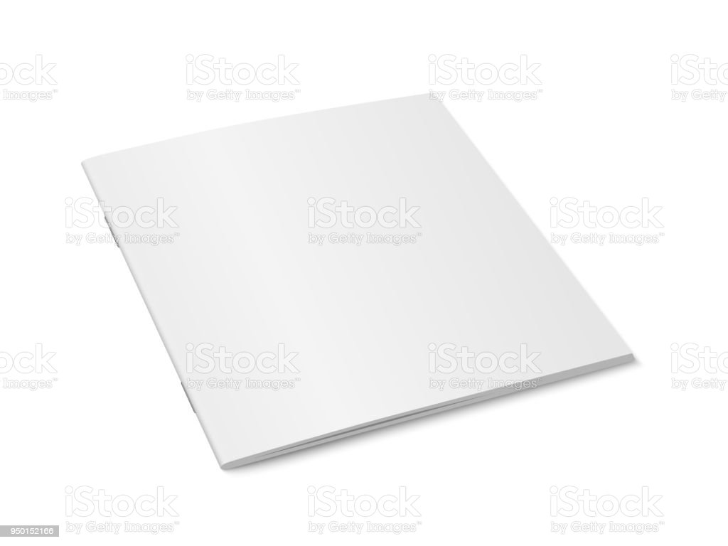 Vector white mock up of magazine isolated.