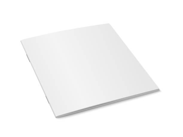 wektor biały makieta magazynu izolowane. - broszura stock illustrations