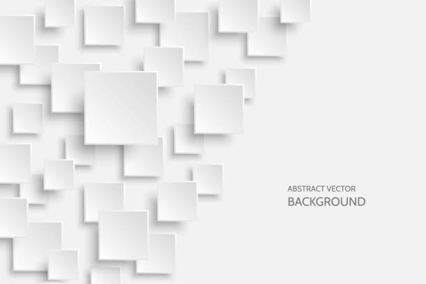 vector white modern abstract background - abstract architecture stock illustrations