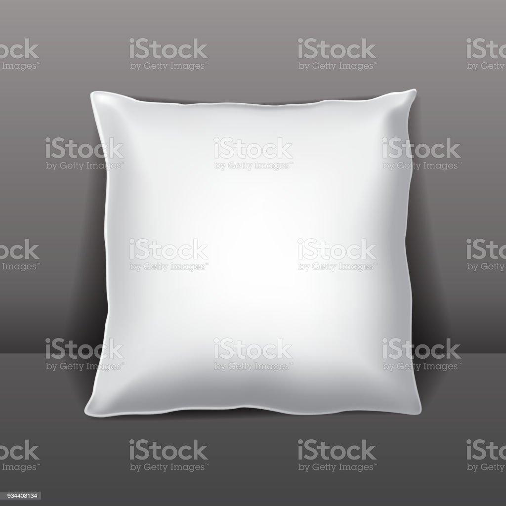 Vector white pillow or packaging vector art illustration
